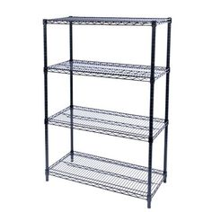 """Restaurant Supply Depot This heavy-duty metal shelf is suitable for a wide range of applications. You can use this storage shelves in a variety of places, such as the bathroom kitchen garage. Tools, books, clothes, bag and other things can be placed on this wire shelving unit. metal shelf storage shelves wire shelving unit. Color: Black, Size: 55"""" H x 24"""" W x 24"""" D Wire Shelving Units, Metal Shelves, Storage Shelves, Shelf, Restaurant Supply, Garage Tools, Colour Black, Color, Epoxy"""