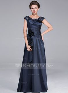 Mother of the Bride Dresses - $138.99 - A-Line/Princess Scoop Neck Sweep Train Charmeuse Lace Mother of the Bride Dress With Ruffle Beading Flower(s) (008025519) http://jjshouse.com/A-Line-Princess-Scoop-Neck-Sweep-Train-Charmeuse-Lace-Mother-Of-The-Bride-Dress-With-Ruffle-Beading-Flower-S-008025519-g25519