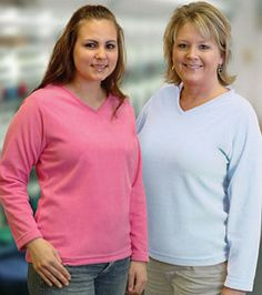 King Louie, expression ladies' v-neck pullovers, w9520, shirts, union made in USA. #madeinusa