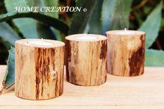 Bougeoir en bois flotté pour table de noël Décoration de noel intérieur et extérieur en bois flotté 100% par HOME CREATION  http://www.alittlemarket.com/boutique/home_creation-1828923.html