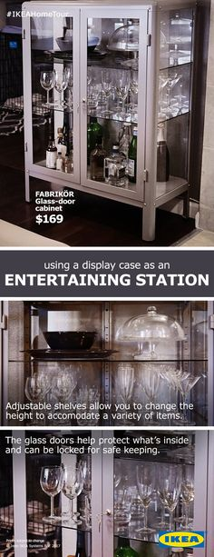 The FABRIKÖR cabinet makes a beautiful and functional entertaining station. And with its lockable doors, it helps ensure what's inside stays inside.
