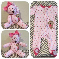 Cute idea to repurposed favorite baby sleeper!