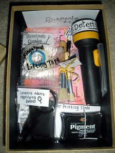Homemade Detective Kit.  Perfect gift for any kid