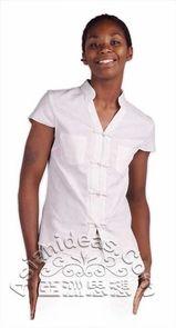 Chinese Shirt, White Scrubs, White V Necks, Chinese Culture, Japanese Kimono, Mandarin Collar, White White, Asian Fashion, Dressmaking