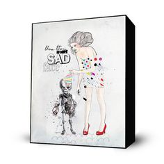 No More Sad Face Mini Art Block, $28, now featured on Fab.