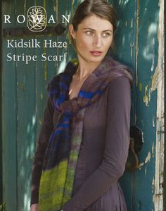 a few free patterns including this striped scarf