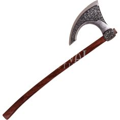 Two Hand Celtic Axe Pewter (€78) ❤ liked on Polyvore featuring weapons