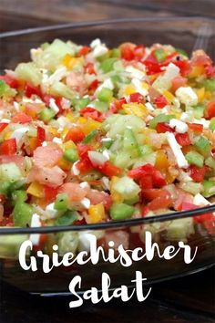 Griechischer Salat (Hirtensalat) als Grillbeilage This Greek salad (shepherd's salad), which I would like to introduce to you today, is the ideal side dish salad recipe for your grill party or gri Side Salad Recipes, Dinner Recipes, Healthy Recipes, Menu Barbecue, Greek Salad Pasta, Grill Party, Greek Recipes, Family Recipes, Thanksgiving Recipes