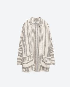 3/4 LENGTH JACQUARD COAT WITH POCKETS-View All-KNITWEAR-WOMAN | ZARA United States