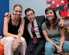 "Cornell Alumni Magazine talks to '98 Graduates and current staff members of ""The Colbert Report"" Liz Levon and Meredith Scardino about their respective jobs at The Report, and what it is like working with the man himself Stephen Colbert."