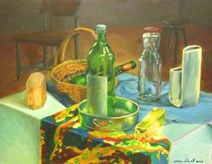 My practice still life painting in 2000