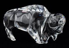 A Baccarat Crystal Buffalo