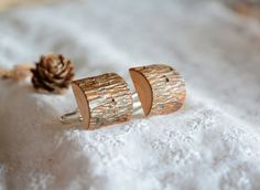 Statement wooden cuff links unique cufflinks wood by MyPieceOfWood