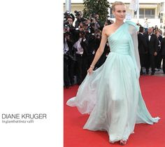The Cannes Catwalk: The Best of the Red Carpet - Looks just like a Romona Keveja Ice Blue Bridal Gown