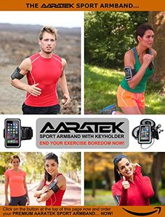 AARATEK Pro Sport Armband for iPhone 6, Galaxy S6|S5|S4 (Black) - Rated #1 - Best for workouts, running, cycling, or any fitness activity outside or in the gym - Listen to your favorite motivating music while your phone is held securely on your arm! - Del http://www.amazon.com/dp/B00V65ORY8