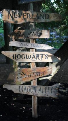 Want this for my backyard/garden some day, but I'll need to add a board pointing to Camp Half Blood :P