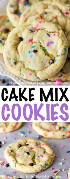 These cake mix cookies are made from a doctored cake mix!  They're easy, buttery, and have a wonderful cake batter flavor!
