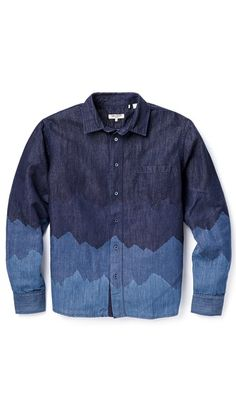 Levi's Made & Crafted Denim Mountain Print Shirt