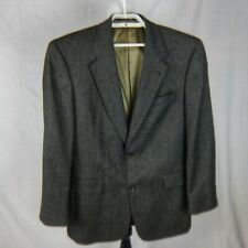 Austin Reed For Dillards Two Button Gray Sport Coat Blazer 41r Chambray Blazer Grey Sport Coat Suits Coats