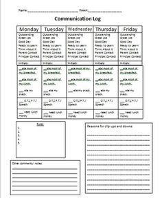 Parent Communication LogPdf  School Savvy