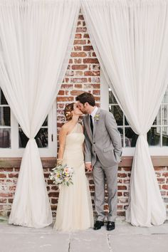 Dress. Brunch Wedding at Charleston's Historic Rice Mill http://fabyoubliss.com