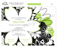 Flowers   Bridal Shower Collection  5X7 by ChiquisDesignStudio