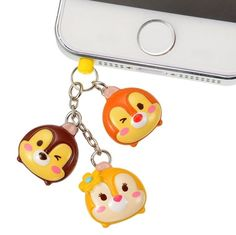 TSUM TSUM Chip & Dale Clarice ❤ Smartphone plug Disney Store JAPAN in Collectibles, Animation Art & Characters, Animation Characters | eBay