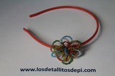 Diadema coral y colores