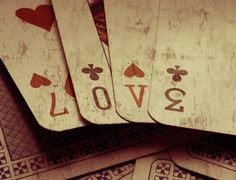 vintage playing cards ~ love