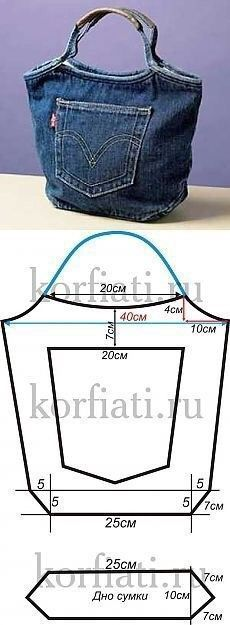 Make your own bag from an old jeans. - - Make your own bag from an old jeans. Upcycling DIY… – Make your own bag from an old jeans. Jean Crafts, Denim Crafts, Diy Purse Making, Making Purses, Blue Jean Purses, Diy Sac, Diy Bags Purses, Denim Purse, Denim Ideas