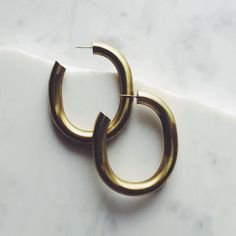Classssic Curve earrings by Laura Lombardi available at LocalEclectic.com by localeclectic