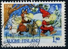 Finnish stamps - but at Christmas time. How charming.