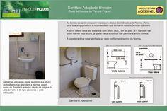 BRADO ACESSIBILIDADE E INCLUSÃO: ARQUITETURA ACESSÍVEL / SANITÁRIO ADAPTADO  UNISEX...