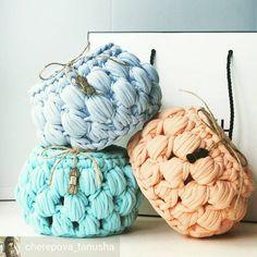 cestinhos #crochet #trapillo #trapilho