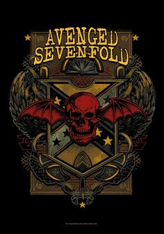 Drapeau AVENGED SEVENFOLD - Death Crest