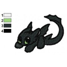Toothless How to Train your Dragon Embroidery Design
