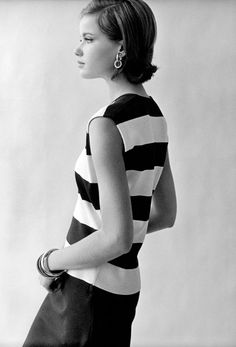 Photo Frank Horvat 1965, Paris, photo test with Veruschka