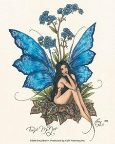 Elfen Fantasy, Fantasy Art, Elfen Tattoo, Amy Brown Fairies, Dark Fairies, Fairy Drawings, Fairy Tattoo Designs, Fairy Pictures, Blue Fairy