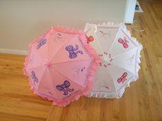2 parasol umbrellas for Faye by LoRensRainorShine on Etsy