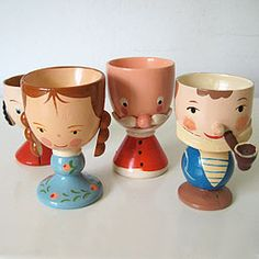 Vintage egg cups @Chrissy Brooker don't we have the little girl in the front??