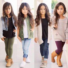 Little girls fashion, kids fashion Toddler Girl Style, Toddler Girl Outfits, Toddler Fashion, Kids Fashion, Toddler Girls, Kids Girls, Baby Girls, Cute Little Girls Outfits, Girls Fall Outfits