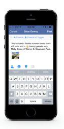 La aplicación oficial de Facebook se actualiza para iPhone 6 y iPhone 6 Plus