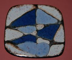 A Very Sweet & Mod Ceramic Pin   Euro Made by MOSTLY20th on Etsy