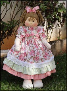 Boneca 50 cm - Pode ser feita com outras estampas R$ 235,00
