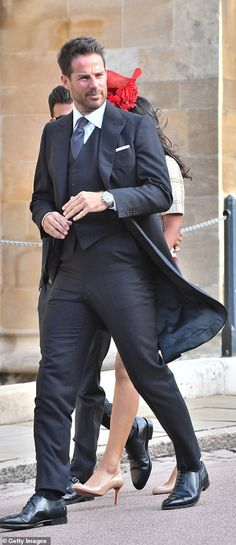 An unshaven Jamie Redknapp showcased a three-piece grey suit and a statement watch as he a. Princess Eugenie And Beatrice, Jamie Redknapp, Julian Fellowes, Sport Icon, Demi Moore, Liv Tyler, Prince William And Kate, Royal Weddings, Kate Middleton