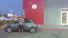 Congratulations Rodrick on your new Fiat 500 Pop from Stephanie and the Findlay Fiat Family! #FindlayFiat http://www.fiatusaofhenderson.com/