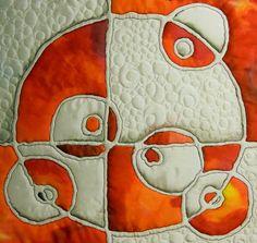 Sun Spots, silk Painting art quilt by Suzan Engler