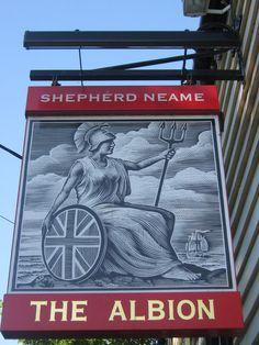 The Albion, Pub Sign, Faversham