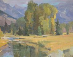 """Snake River,"" G. Russell Case, 8x10, oil on board"