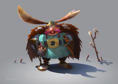Dumb Viking!, Amin Faramarzian on ArtStation at https://www.artstation.com/artwork/g9LYe